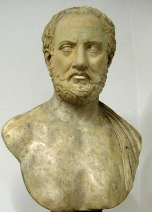 "Thucydides, author of ""History of the Peloponnesian War"" ."
