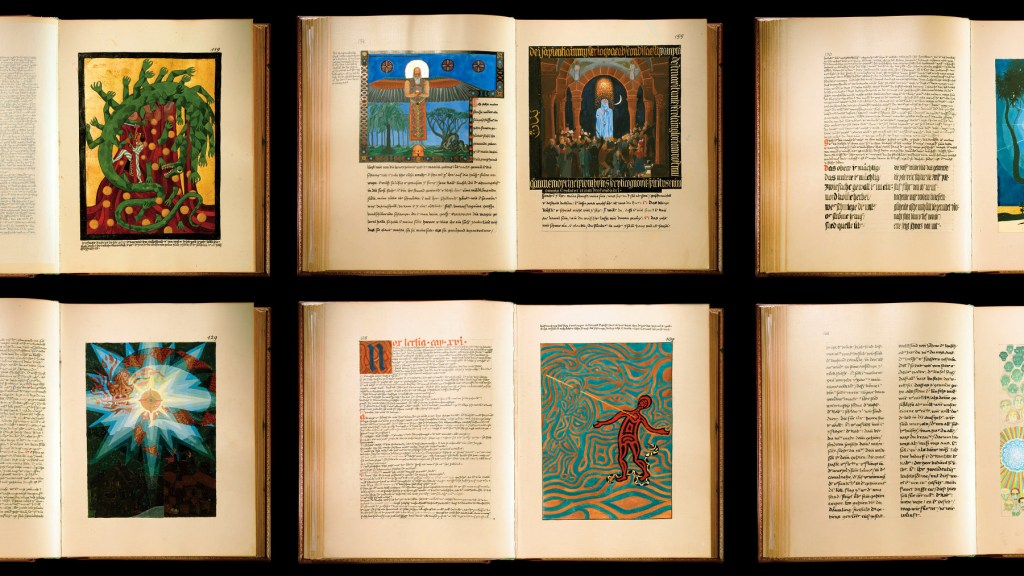 "6 full spreads in facsimile from the original ""Liber Novus"" by C.G. Jung"