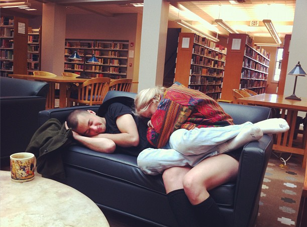 nap in library