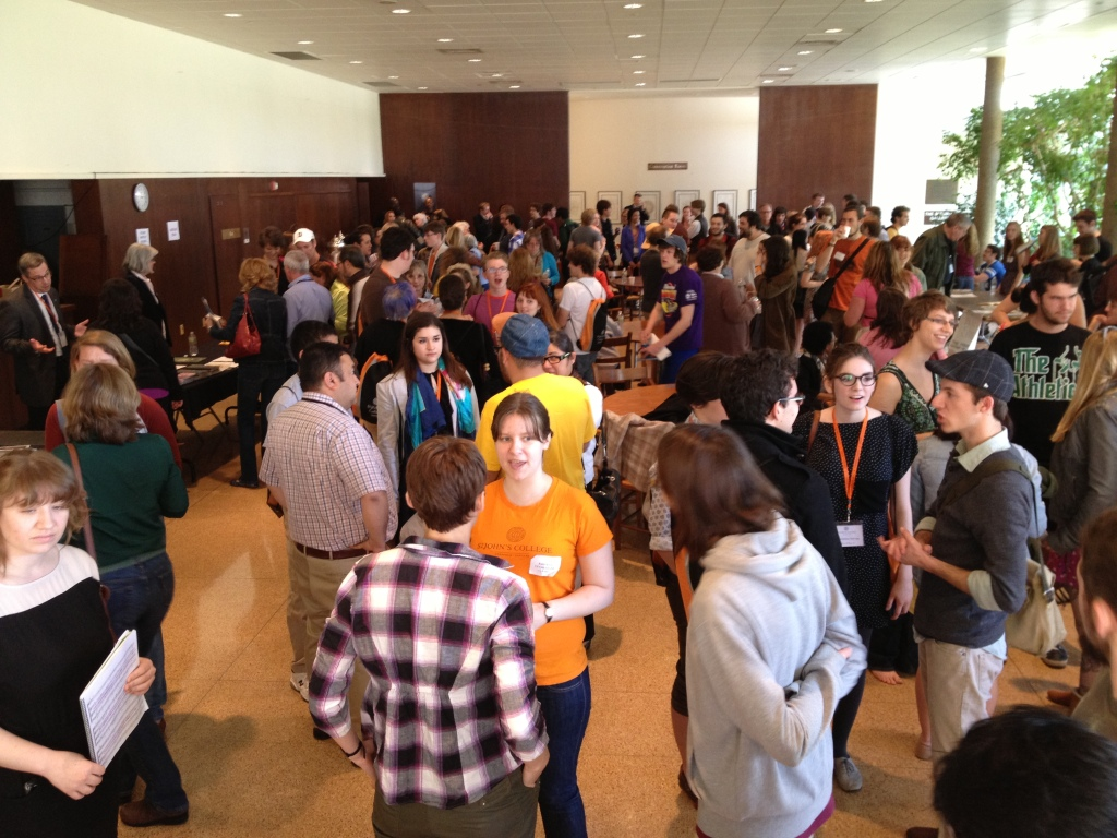 Accepted students learn about life at the College at the activity fair. (photo by Admissions)