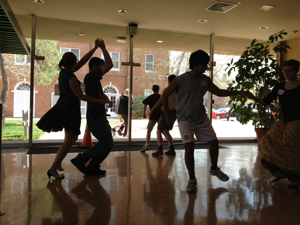 Members of the Waltz Club show off their swing dancing. (photo by Admissions)