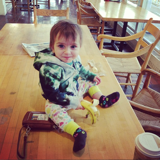 baby in dining hall!