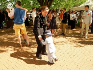 Swing dancing at Croquet. (Photo by Anyi Guo)