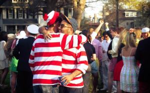 Members of the St. John's Croquet team in full Waldo attire. (Photo by Anyi Guo)