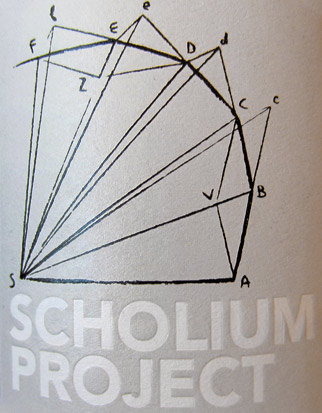 Scholium Project Wine Label