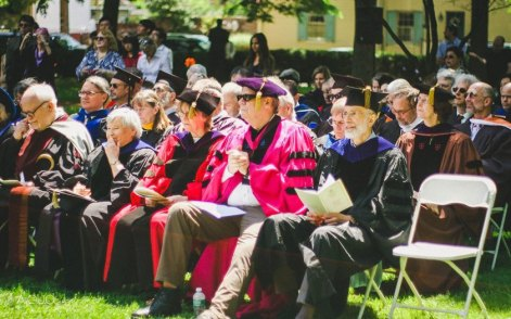 Current and former tutors gather to celebrate. (Photo by Anyi Guo)