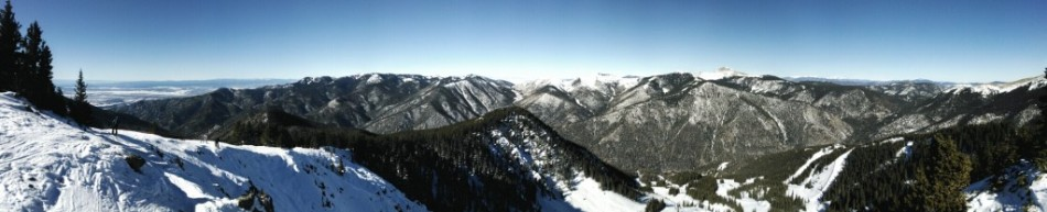 St. John's College Ski Club Panorama of Taos West Basin