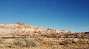 View from the car window: On the drive back, just south of Chama, NM