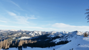 The view from atop Wolf Creek