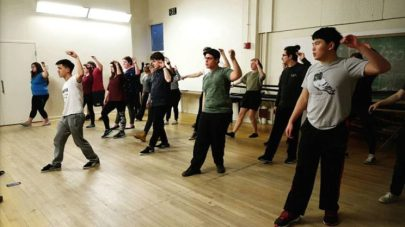 The cast of Spring Awakening has their first dance rehearsal with Abraham Zhao A19